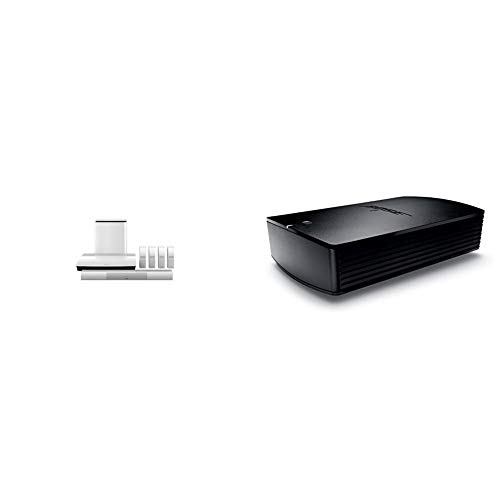 Bose Lifestyle 650 Home Entertainment System, Compatible with Alexa - White & SoundTouch SA-5 Amplifier, Compatible with Alexa - Black