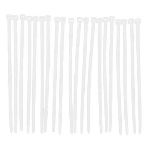 D DOLITY 20Piezas de Bridas de Nailon con Velcro Velcro Presilla Cable...