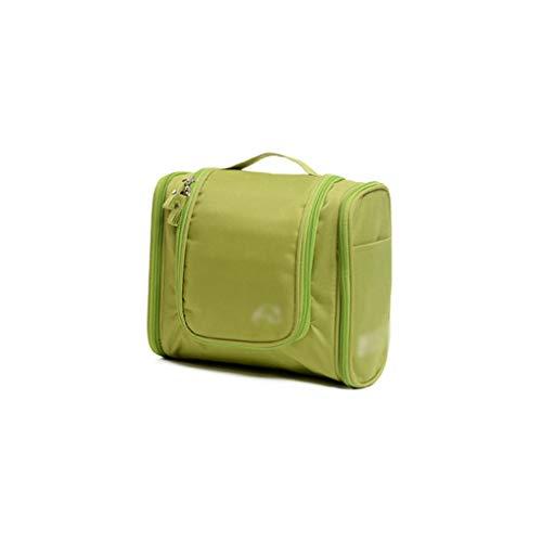 Voyage en Plein air Cosmetic Bag Grande capacité de Stockage Sac Case Portable Femme Voyage Portable Portable Wash Bag (Color : Green, Taille : 24 * 21cm)
