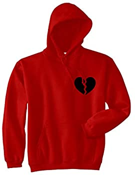 Broken Heart Mens Pullover Hoodie XXX-Large Red