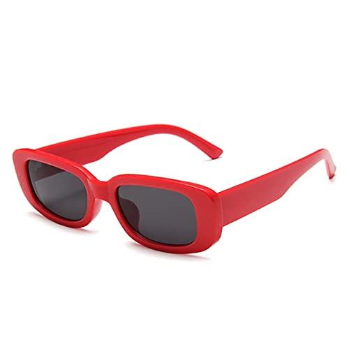 RUK Gafas de Sol Retro clásicas Mujer, Gafas de Sol rectangulares Retro para Mujer, Gafas de Lente Transparente Azul Rosa Verde UV400
