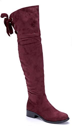 Schuhtempel24 Overknee Stiefel rot