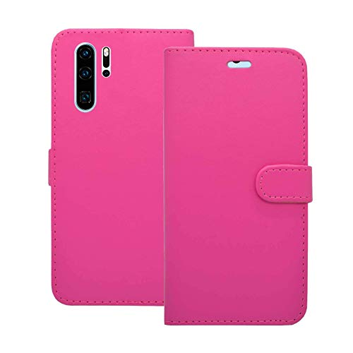 Carcasa Compatible Con Huawei P30 Pro Rosa Libro Cartera Soporte Cuero De PU Tarjeta Ranura Bolsa Funda para Teléfono