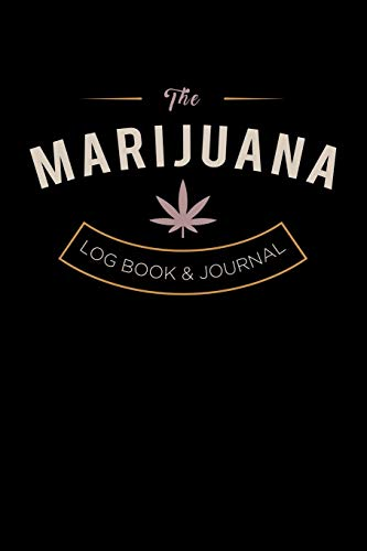 Cannabis journal: Marijuana notebook, strain review and log book: For keeping a record of all the important details in one place: Black vintage cover