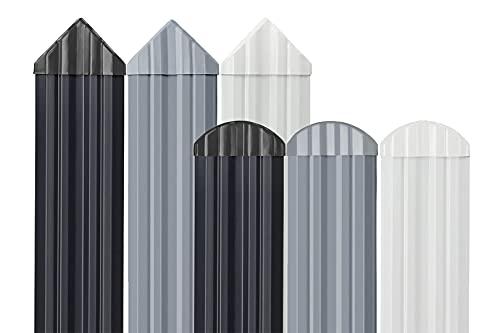 HEXIM Elementos de valla de plástico PVC – Jardín y terrazas Protección visual – (1 pieza de muestra color blanco) Valla de jardín valla valla valla valla balcón valla exterior