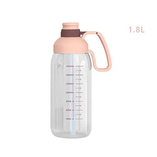 Xu Yuan Jia-Shop Botella de Agua Gran Capacidad de Fitness Hervidor plástico Portable de la Copa de Paja 1,8 Deportes, Tiempo Libre Copa Espacio Caldera Grande Botella de hidro