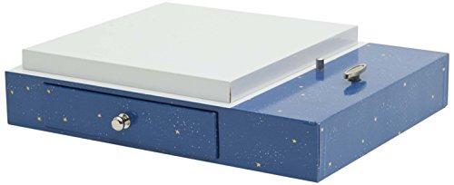 Trousselier - Spieluhr für Magische Laterne - Sockel - Untersatz - Schublade - Ersatzteile - Musik: Romeo & Julia - Farbe Night Blue
