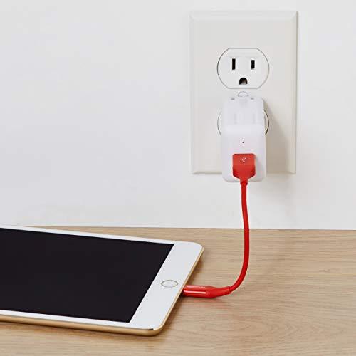 Amazon Basics Lightning auf USB A Kabel, Apple MFi Zertifiziert - 1,8 m, 1er Pack, Rot