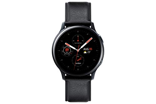 SAMSUNG SM-R820NSKAPHE Galaxy Watch Active 2 - Smartwatch de Acero, 44mm, color Negro, Bluetooth [Versión española]