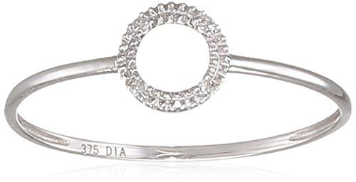 Naava Women White Diamond Engagement Ring - Size J PR12848W-J
