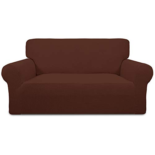 Easy-Going Stretch-Slipcovers, Polyester, Coffee, loveseat