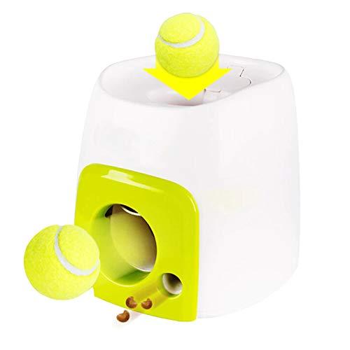 Edhua Juguete automático del Perro del Lanzador de la Bola de los alimentadores,máquina Que Lanza interactiva de la Pelota de Tenis para los Perros