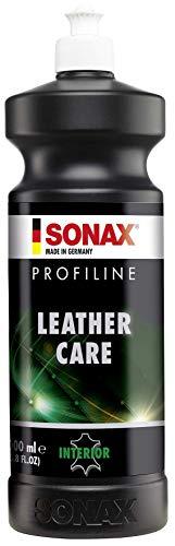 SONAX PROFILINE LeatherCare (1 Liter) wachsfreie Lederpflege mit UV-Schutz für Glattleder | Art-Nr. 02813000