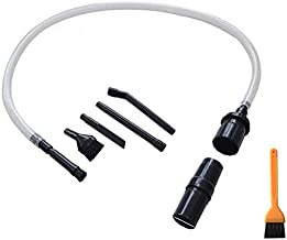 EZ SPARES 7PCS Micro Vacuum Attachment 7 Piece Kit Keyboard Crevice Cleaning Tool Brush Kit