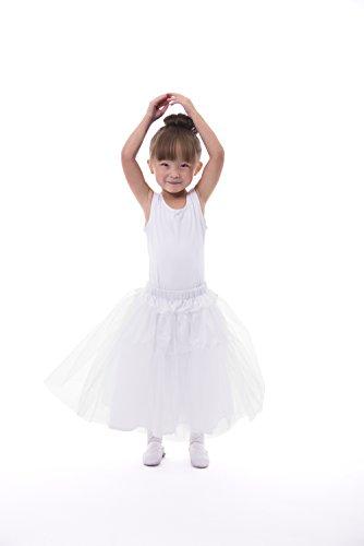Little Adventures Girls Deluxe Fullness Costume Slip (Large Age 5-7) White