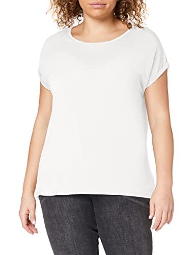 VERO MODA Vmava Plain Ss Top Ga Noos, T-Shirt Donna, Bianco (Snow White Snow White), 38 (Taglia Produttore: Medium)