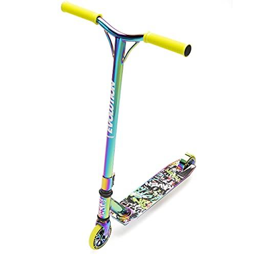 RAVEN Stunt/Freestyle Scooter, Roller, Tretroller, Cityroller Evolution Master 110mm (Neochrome/Lime)