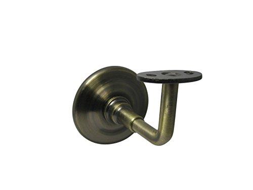 Handlaufstütze Handlaufhalter Wandhalter Handlaufträger alt antik Messing glatt