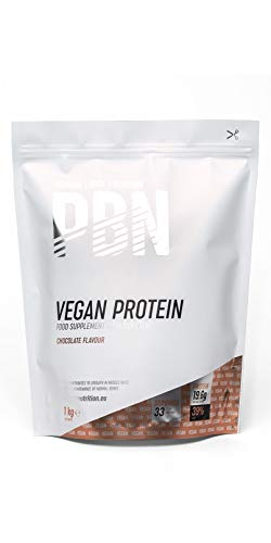 PBN Premium Body Nutrition - Paquete de proteínas para veganos, 1 kg (Paquete de 1), sabor Chocolate