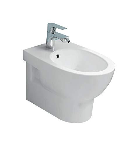 Sanitari bagno bidet sospeso, serie ABE Azzurra, ceramica bianca