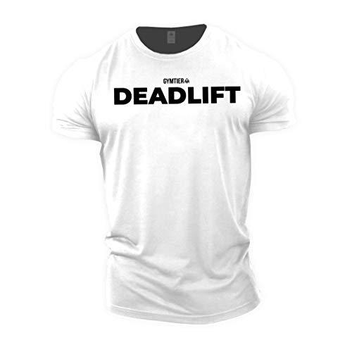 GYMTIER Deadlift - Bodybuilding-T - Shirt | Herren Fitness T-Shirt Muskelshirt Trainingsbekleidung