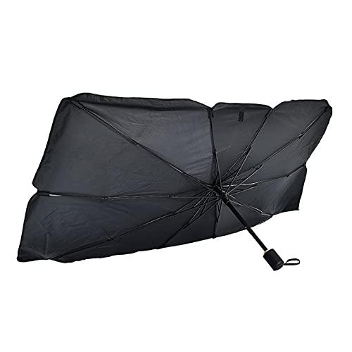 LYRRHT Paraguas Sombrillas para AutomóViles Sombrillas para AutomóViles Tela De ProteccióN Solar De Vidrio Frontal AutomóViles Plata Titanio Engrosada Pequeña