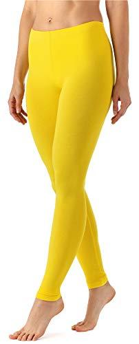 Merry Style Damen Lange Leggings aus Viskose MS10-143 (Zitronengelb, L)
