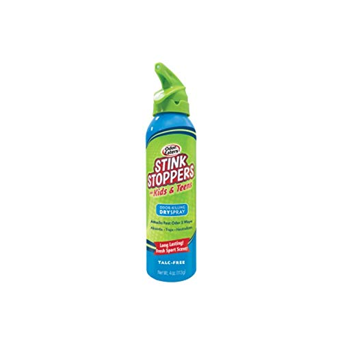 Odor Eaters Stink Stoppers Foot Spray 4 Ounce (For Kids/Teens) (6 Pack)