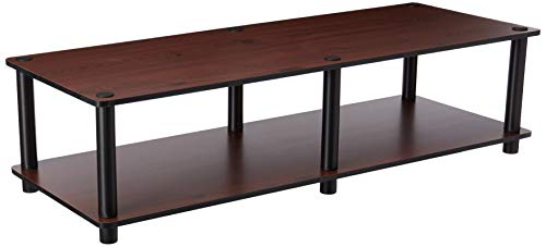 Furinno Just No Tools Dark Cherry Wide Television Stand with...