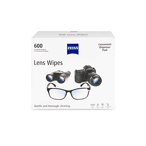 Zeiss Pre-Moistened Lens Cleaning Wipes, 6 x 5-Inches, 600 count