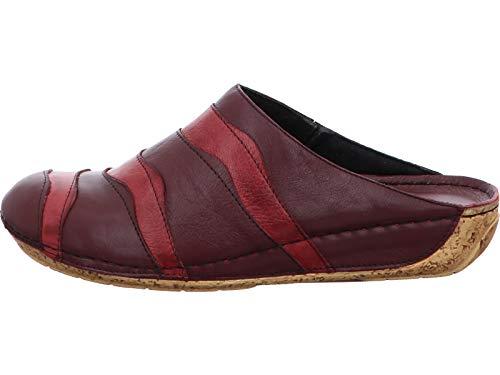 Gemini 032098-01 Damen Pantoletten Clogs Leder, Schuhgröße:39 EU, Farbe:Rot