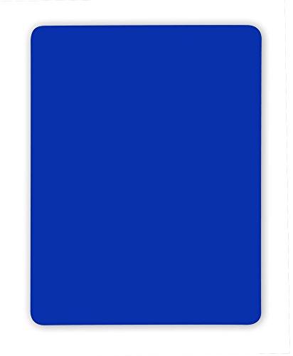 handball fanshirts. de Blaue Karte für Schiedsrichter 9 x 12 cm PVC neonfarben regelkonform ohne Logo