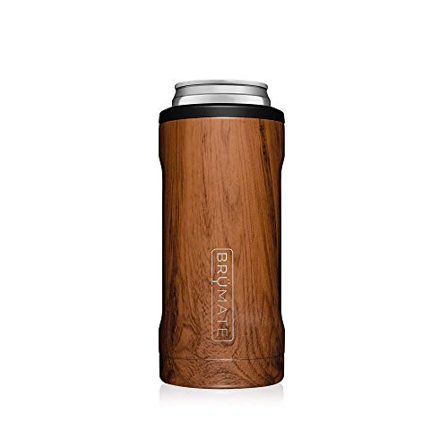 Price comparison product image BrüMate Hopsulator Slim Double-walled Stainless Steel Insulated Can Cooler for 12 Oz Slim Cans (Walnut)