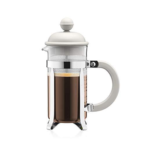 Bodum–Caffettiera–Caffettiera a pistone tazze, Vetro, Bianco, 0.35 L