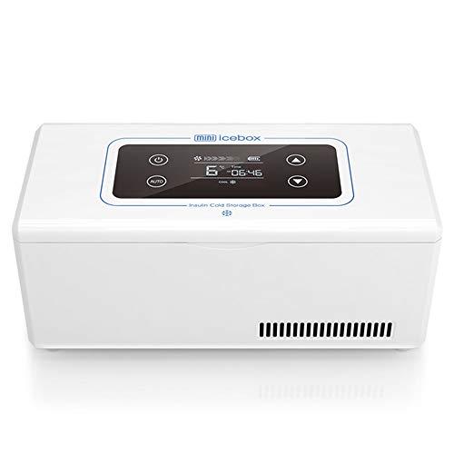 Xyanzi Mini-Kühlschränke Insulin-Kühler-Kasten, Insulin-Safe 72HOURS Insulin-Kühler-Reise-Kasten-Flasche Die Insulin-kleinen Kühlraum-Reise-Kasten for Medikation Schützt (Color : No Lithium Battery)