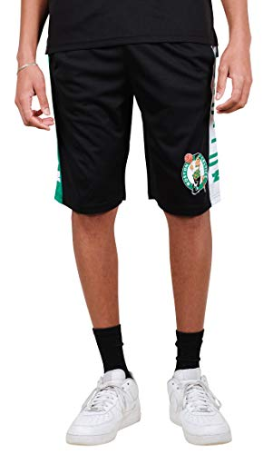 Ultra Game NBA Boston Celtics Mens Mesh Basketball Shorts, Black, Medium