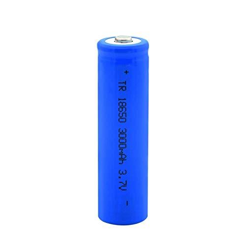 yfkjh Batería De Litio De Punta Azul 18650 3.7v 3000mah, Batería Recargable De Carga De Iones De Litio para Linterna 1pc
