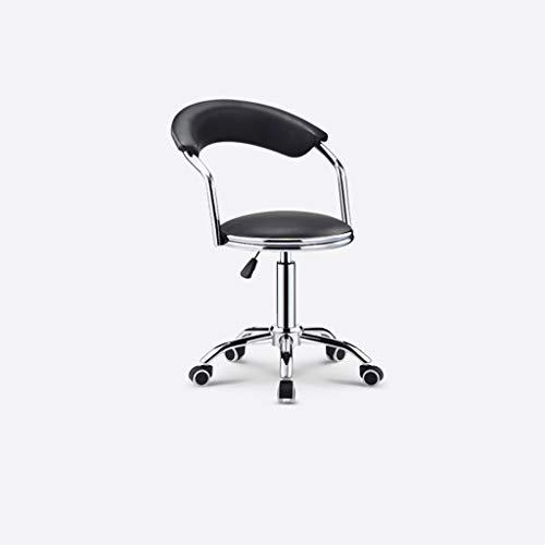 LHY- Bar stol, snurrstol, barnstol, bar stol, ryggstöd, hem, reception stol, bar stol, avföring Halkfri (Color : Black)
