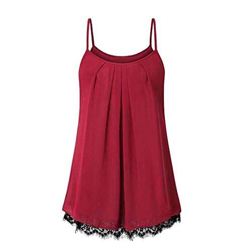 riou Camisetas Mujeres Verano Tamaño Grande Blusa Tirantes Mujer botón Suelto Cuello V Cami Tank Tops Básica Tops Mujer Vestir Ropa para Primavera Verano