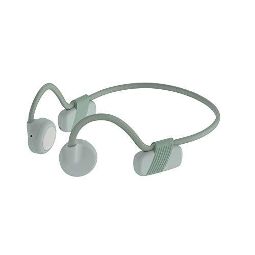 Auriculares Bluetooth 5.0 de conducción ósea inalámbricos de oreja abierta Deportes Ligeros IPX6 Impermeables Auriculares resistentes al sudor para correr Conducción Ciclismo Senderismo,Verde
