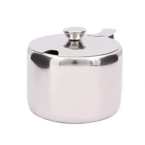 Mini pentola di sale in acciaio inossidabile per zuccheriera,Funzione Contenitore per zucchero Vaso di zucchero Vaso di stoccaggio del sale Vasetti di tè Salse Marmellata di caffè Vaso di stoccaggio