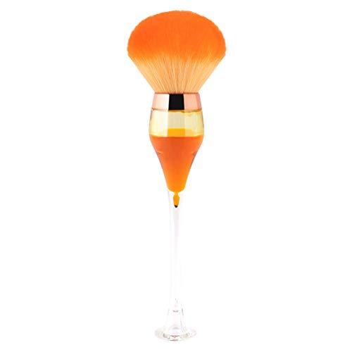 Lurrose Pinceau Poudre Pinceau Blush Pinceau de Maquillage Gobelet pour Une Grande Couverture Poudre Libre Poudre Bronzer Blush Mélange Polissage (Orange)