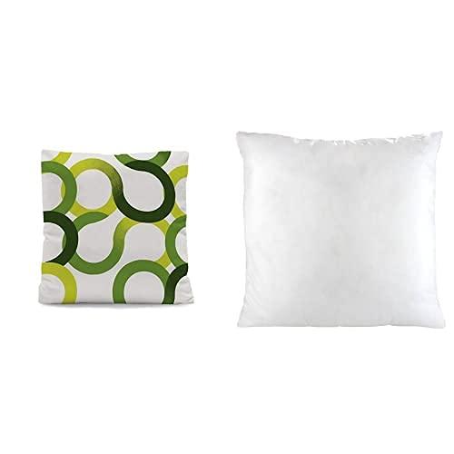 Sabanalia - Cuadrante para Colcha Aros - 50 x 50, Verde + - Relleno de Fibra 50x50