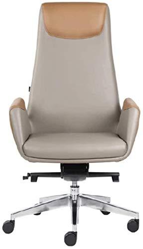 JYHS Silla de ordenador, reclinable para el hogar, moderna, minimalista, oficina, estudio, rosa, beige cómodo