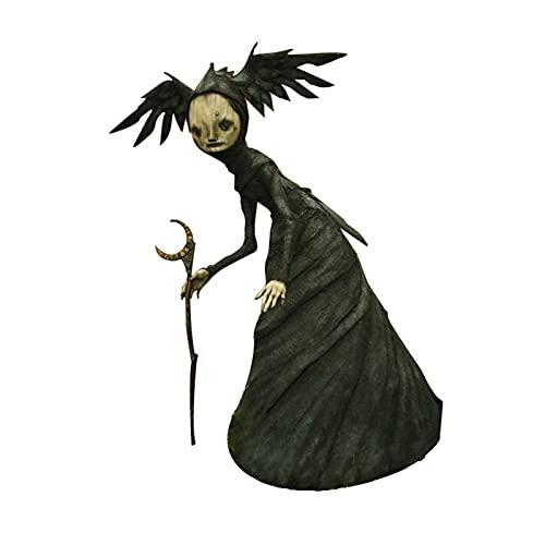 Crazyfly Figura de bruja de resina, diseño único, decoración duradera para Halloween, decoración para el hogar, sala de estar, jardín Casa embrujada Fiesta Jardinería Atmósfera Atrezzo
