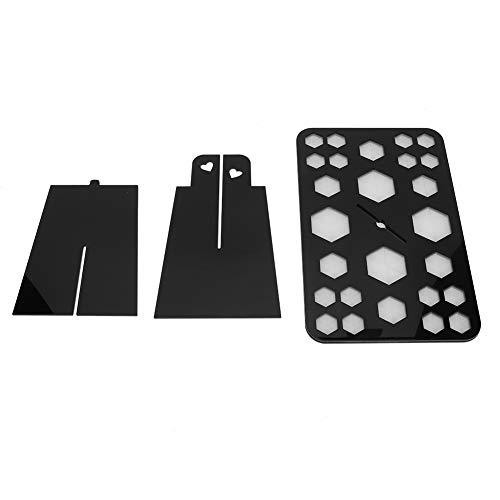 Rejilla para secado de brochas de 6 agujeros medianos, fácil de montar,...