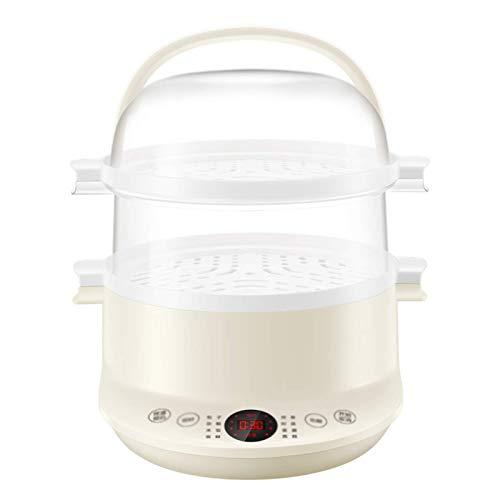 WANGIRL 2 en 1 Caldera de Huevos, Olla de Huevo eléctrico Multifuncional Inteligente Inteligente Tempeo Completo Timing Steamer Evitar Quemaduras secas con Apagado automático LOLDF1