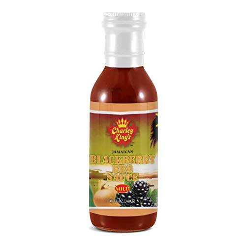 Charley King's All Natural BBQ Sauce, Jamaican Blackberry (Mild) | Flavorful and Healthy, Authentic Jamaican Seasoning | Vegan, Gluten-Free, No Preservatives or MSG | 12 oz.