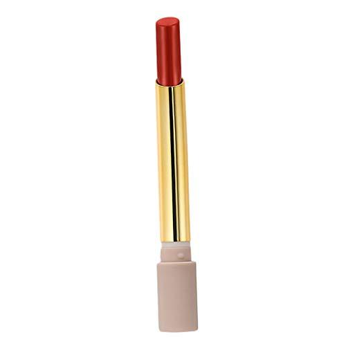 perfeclan 2g Lápiz Labial Impermeable Mate de Larga Duración Hidratante Lápiz Lápiz Labial Brillo - Rojo oscuro