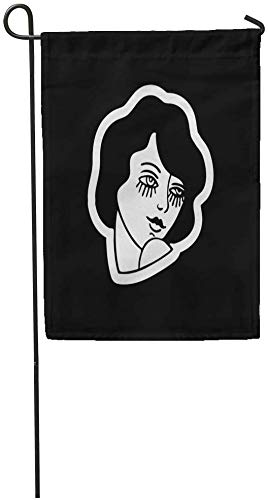 Co5675do Garden Flags Seasonal Flag Funny Flag 12x18 Inches Adult Girl Traditional Tattoo Flash Barefoot Beautiful Blade Butterfly Outdoor Decorative